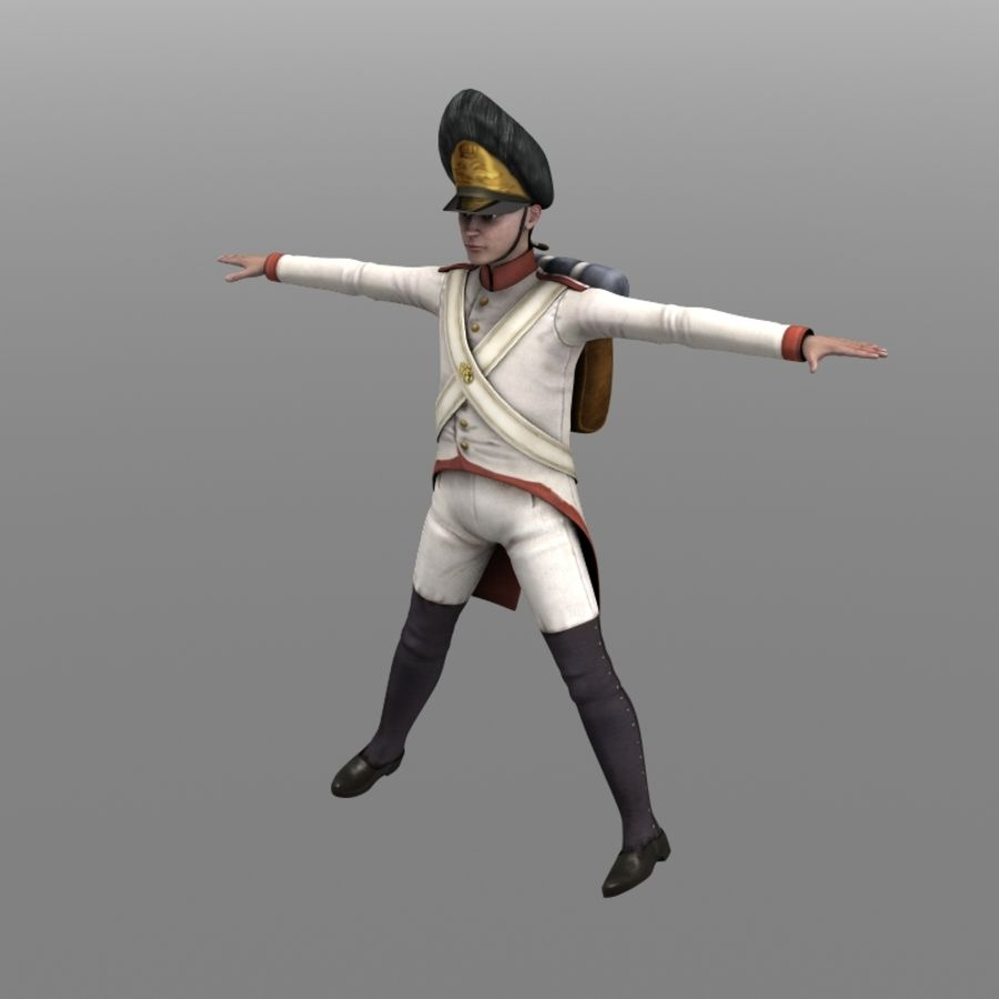 Austrian Grenadier royalty-free 3d model - Preview no. 1