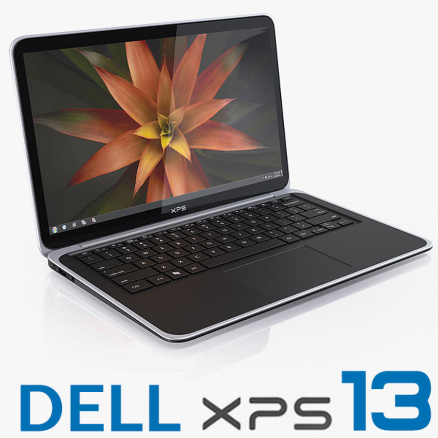 DELL XPS 13 Ultrabook royalty-free 3d model - Preview no. 1