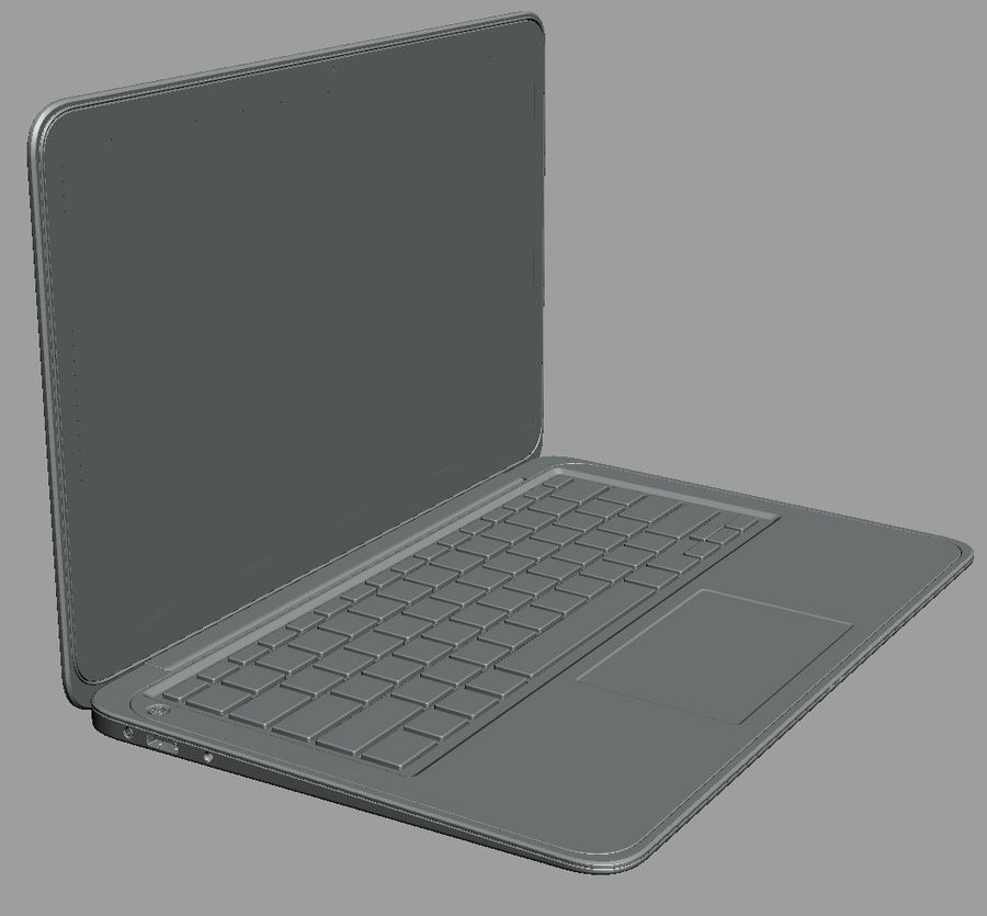 DELL XPS 13 Ultrabook royalty-free 3d model - Preview no. 17