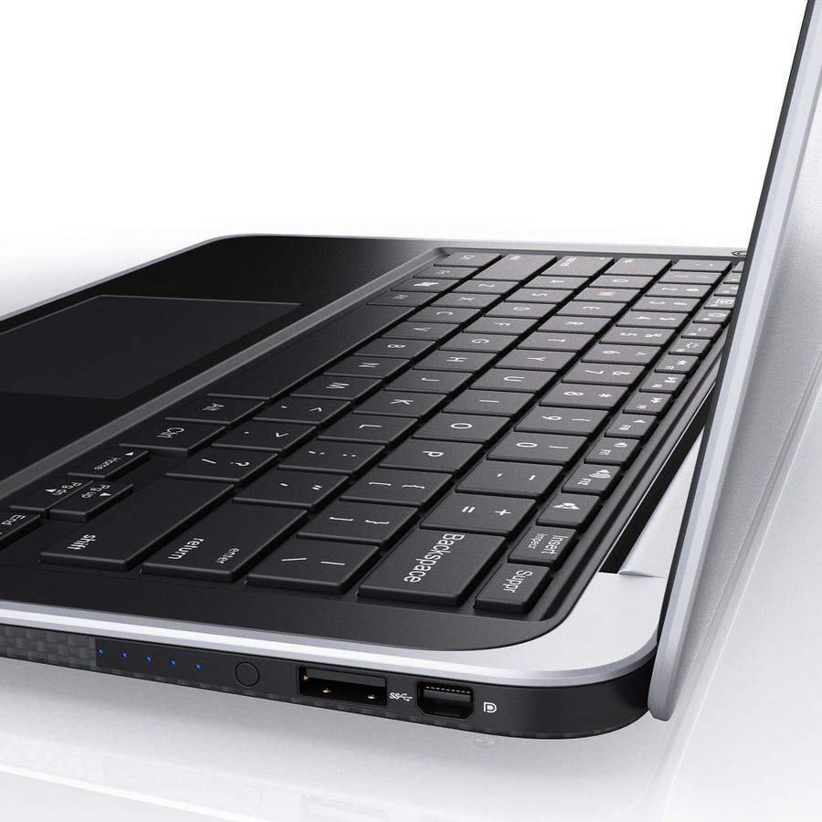 DELL XPS 13 Ultrabook royalty-free 3d model - Preview no. 12