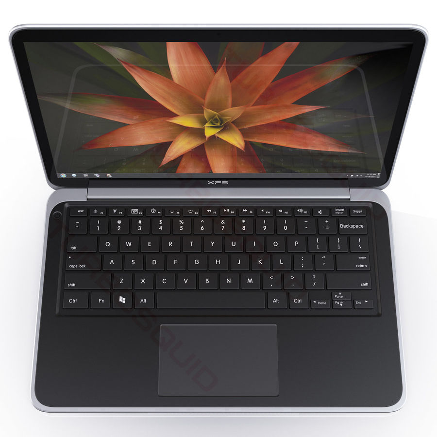 DELL XPS 13 Ultrabook royalty-free 3d model - Preview no. 7