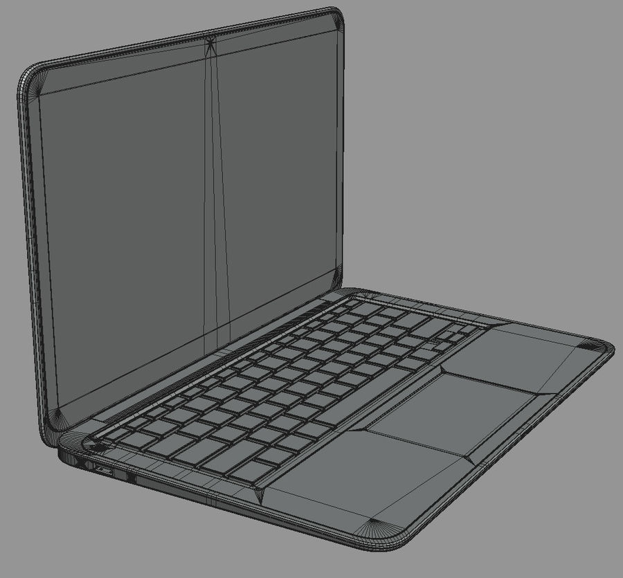 DELL XPS 13 Ultrabook royalty-free 3d model - Preview no. 18