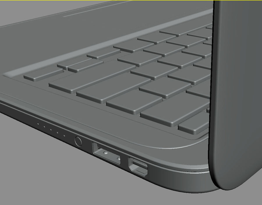 DELL XPS 13 Ultrabook royalty-free 3d model - Preview no. 27