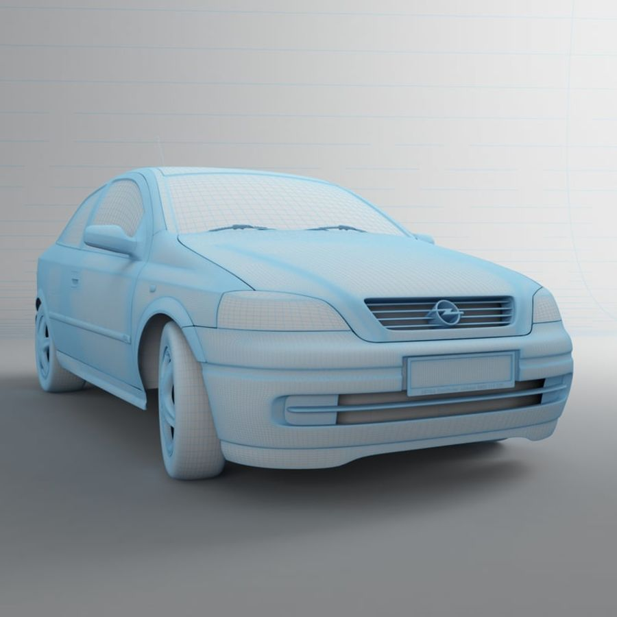 Opel Astra G royalty-free 3d model - Preview no. 18