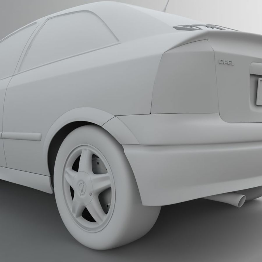 Opel Astra G royalty-free 3d model - Preview no. 50