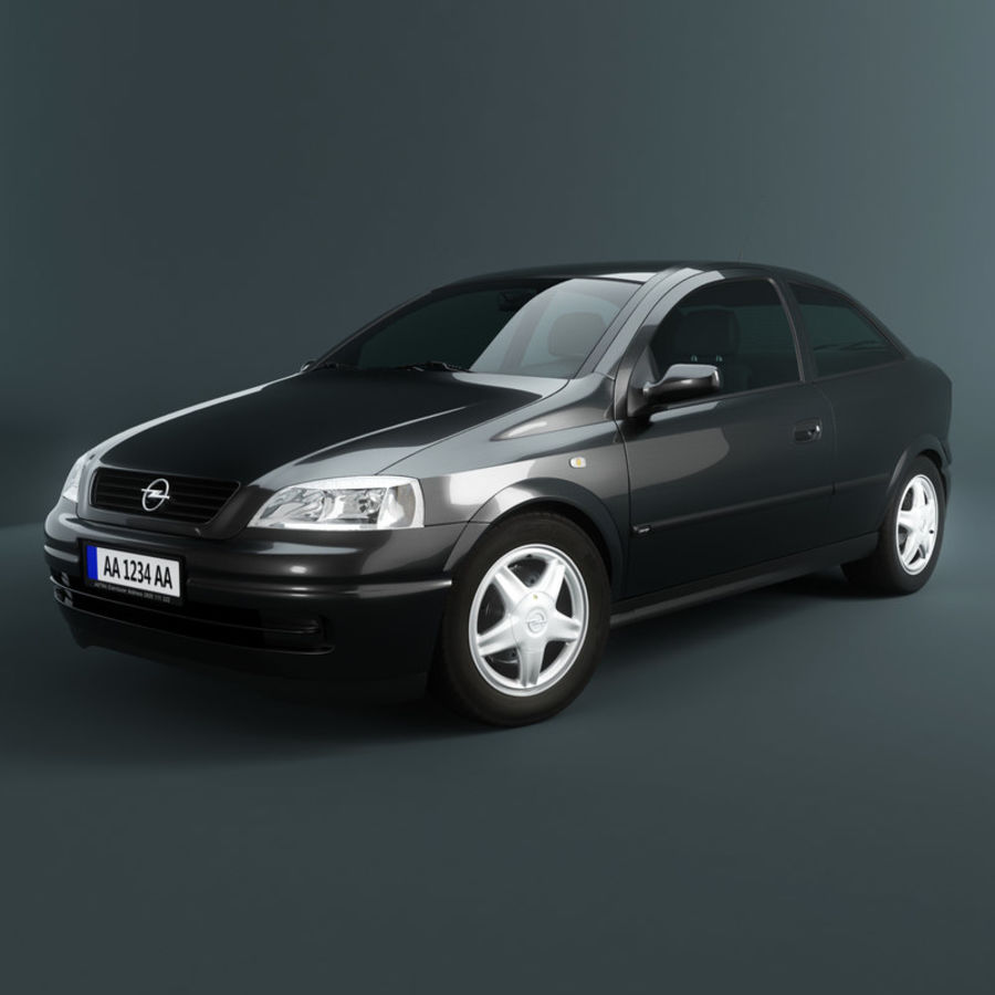Opel Astra G royalty-free 3d model - Preview no. 2