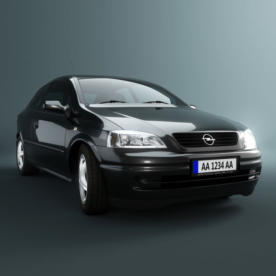 Opel Astra G royalty-free 3d model - Preview no. 1