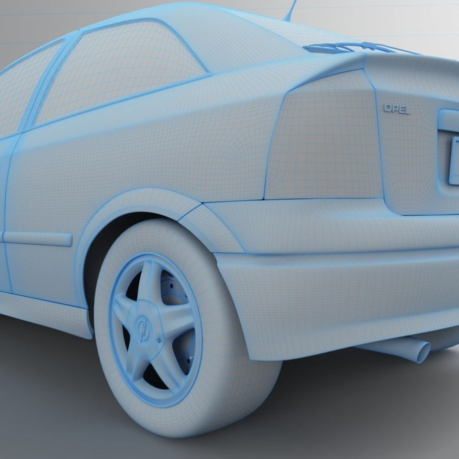 Opel Astra G royalty-free 3d model - Preview no. 51