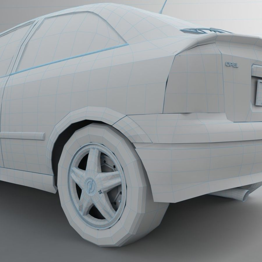 Opel Astra G royalty-free 3d model - Preview no. 52