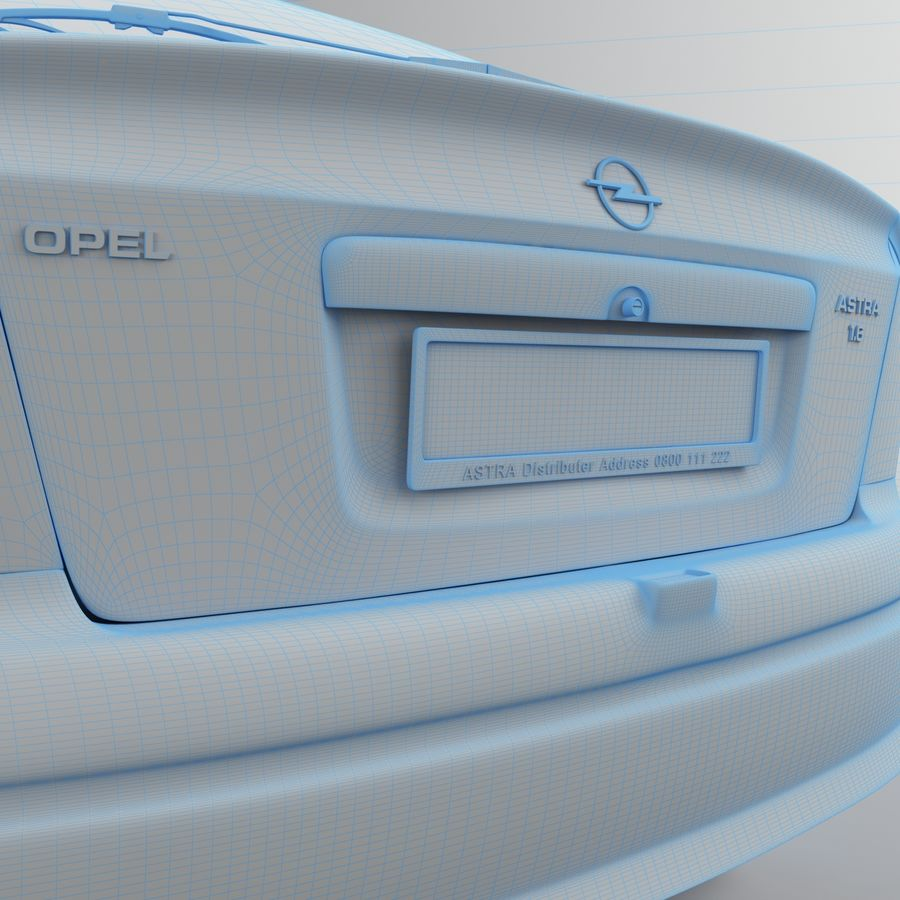 Opel Astra G royalty-free 3d model - Preview no. 39