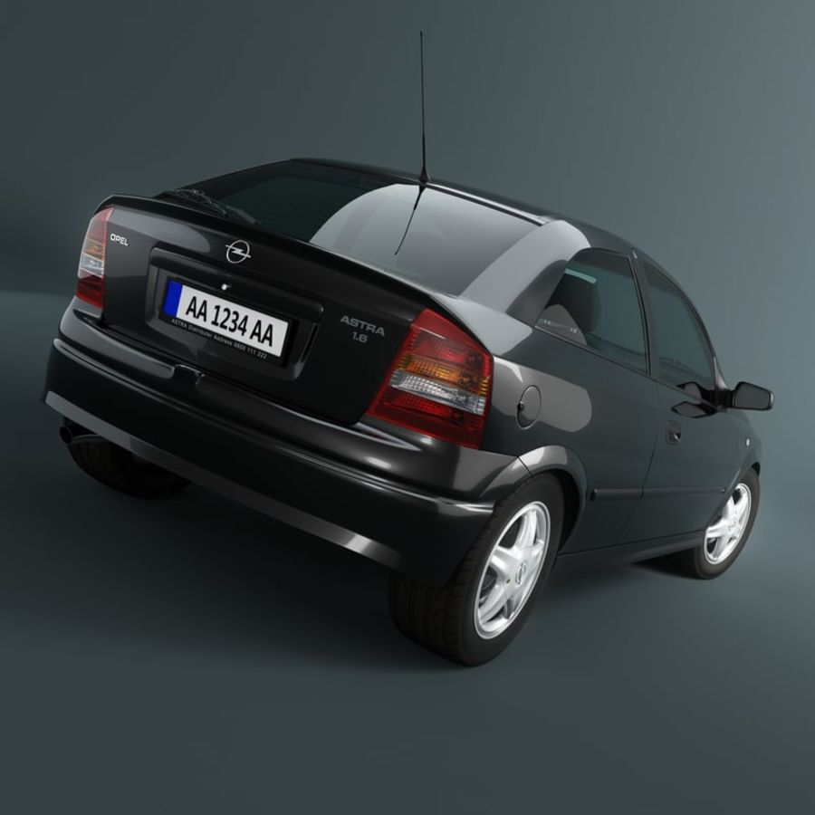 Opel Astra G royalty-free 3d model - Preview no. 3