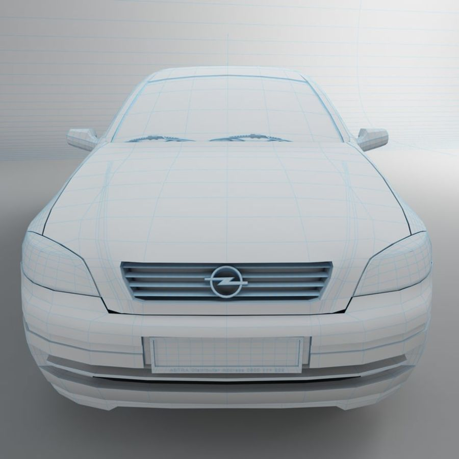 Opel Astra G royalty-free 3d model - Preview no. 31