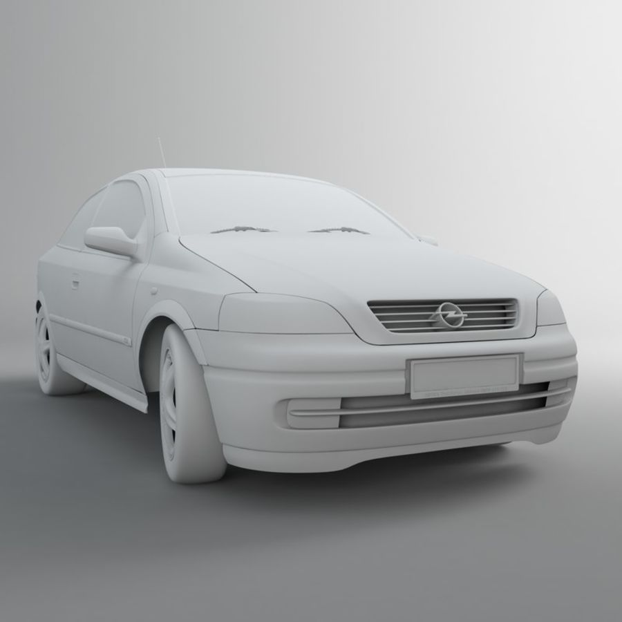 Opel Astra G royalty-free 3d model - Preview no. 17