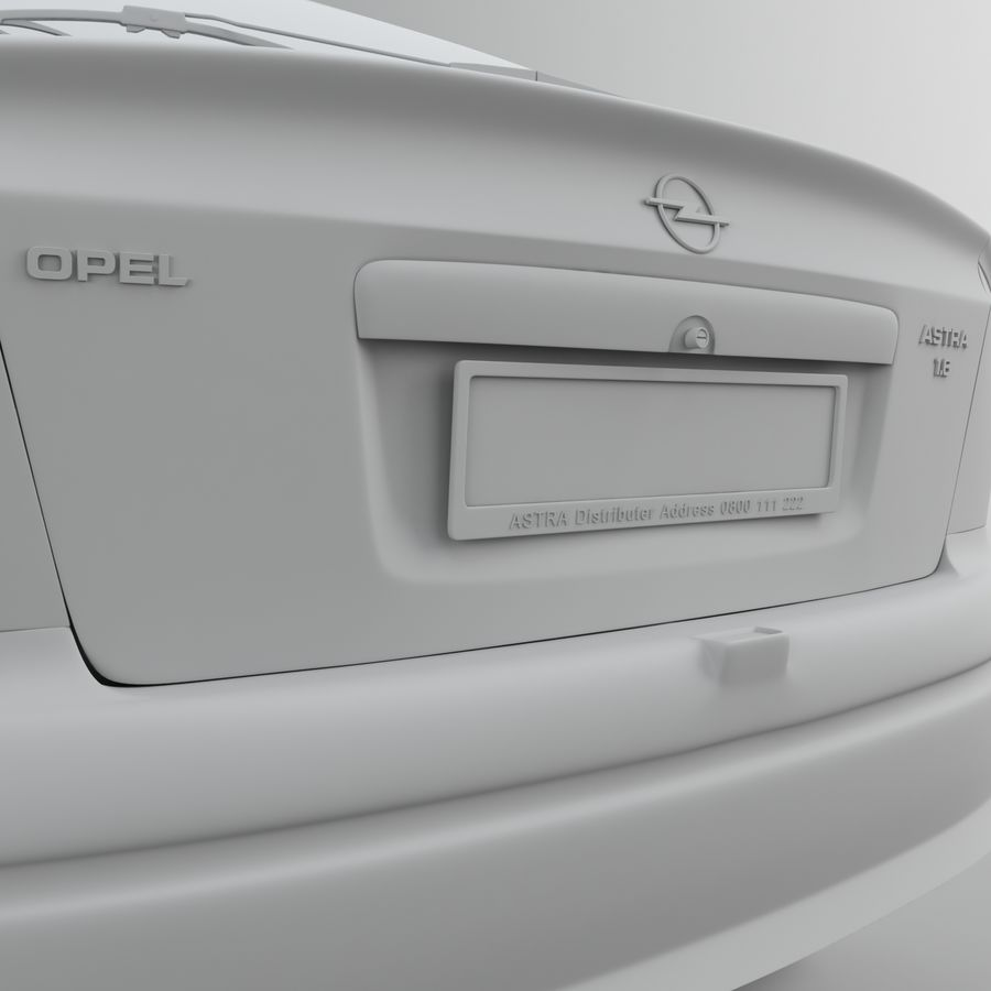 Opel Astra G royalty-free 3d model - Preview no. 38