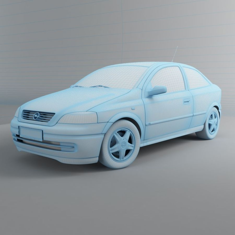 Opel Astra G royalty-free 3d model - Preview no. 22