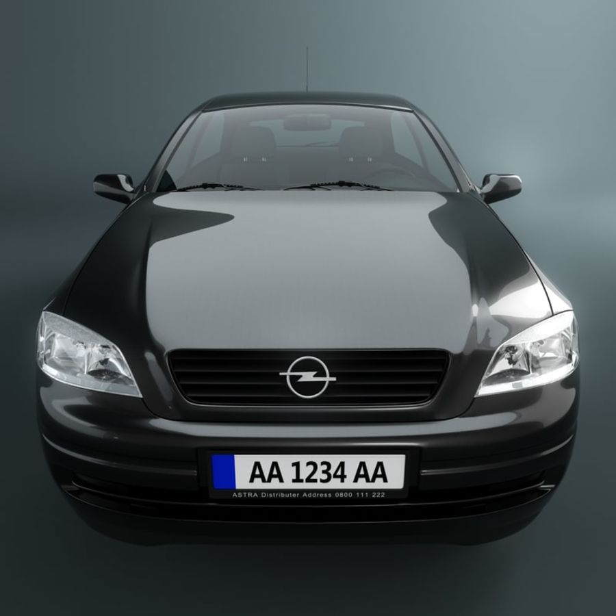 Opel Astra G royalty-free 3d model - Preview no. 5