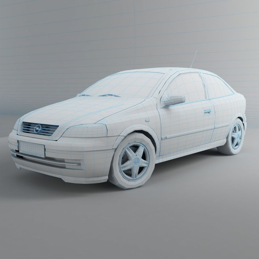 Opel Astra G royalty-free 3d model - Preview no. 21