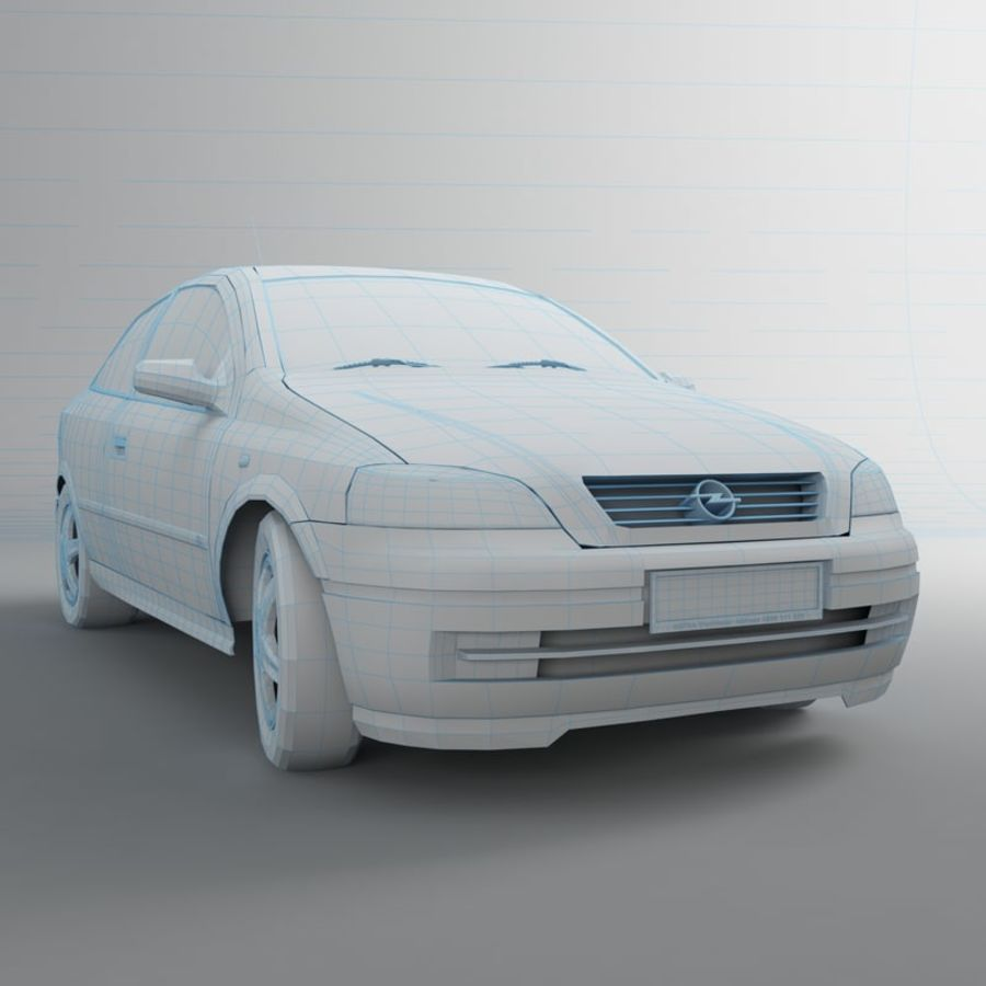 Opel Astra G royalty-free 3d model - Preview no. 19