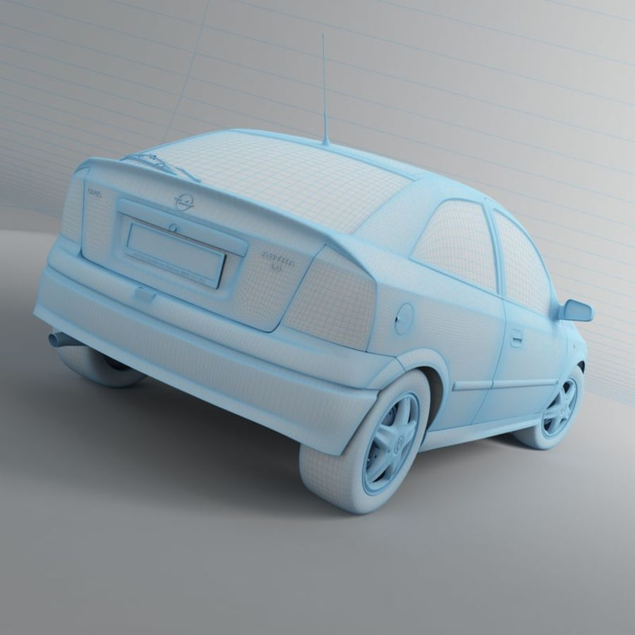 Opel Astra G royalty-free 3d model - Preview no. 24