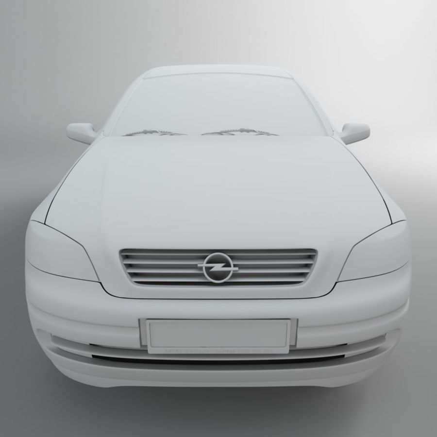 Opel Astra G royalty-free 3d model - Preview no. 29
