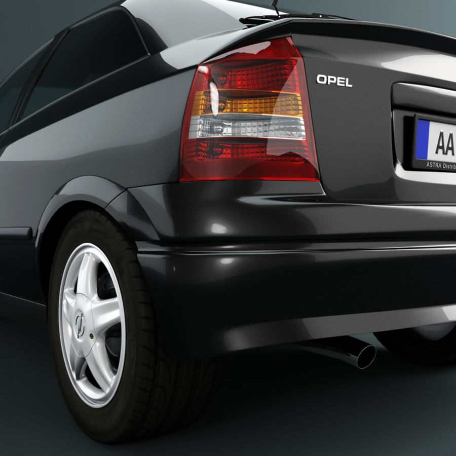 Opel Astra G royalty-free 3d model - Preview no. 14