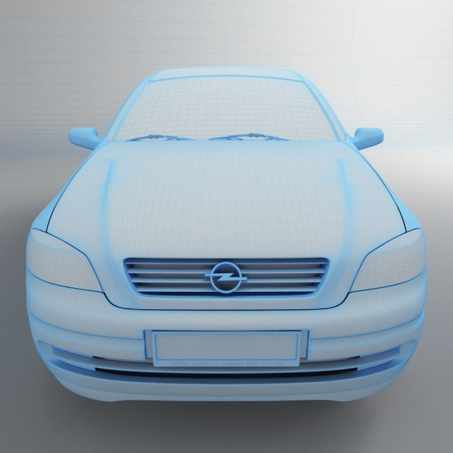 Opel Astra G royalty-free 3d model - Preview no. 30