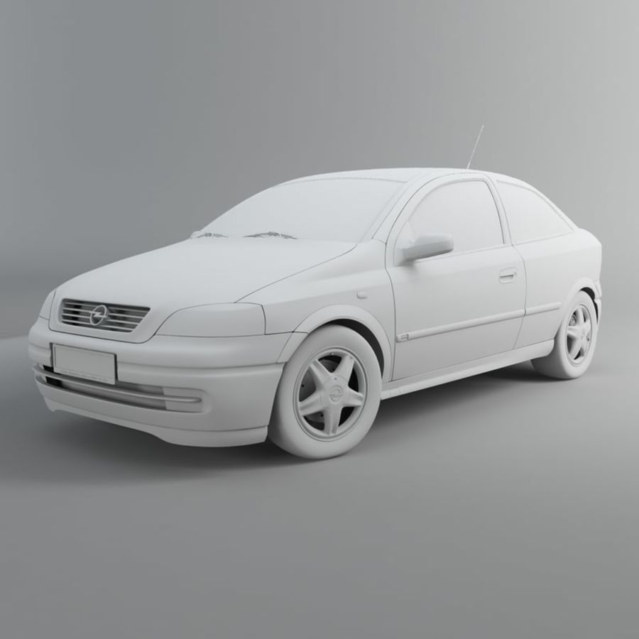 Opel Astra G royalty-free 3d model - Preview no. 20