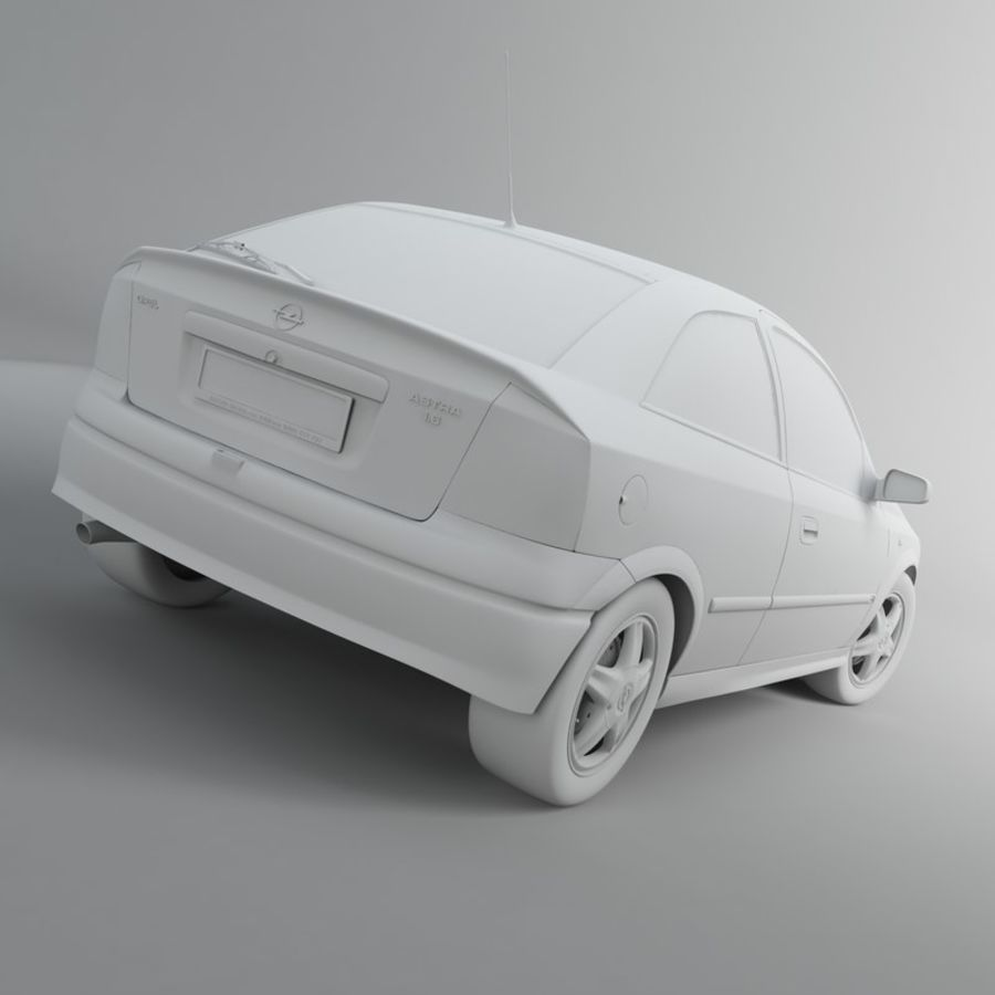 Opel Astra G royalty-free 3d model - Preview no. 23