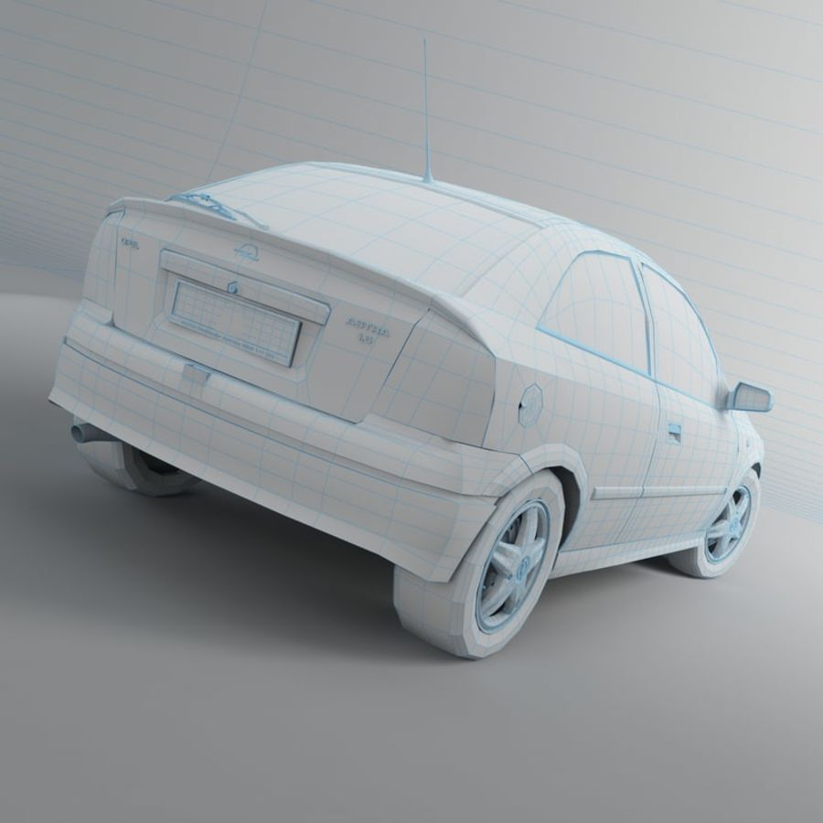 Opel Astra G royalty-free 3d model - Preview no. 25