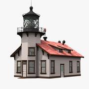 Zeigen Sie auf die Cabrillo Light Station 3d model