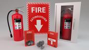 Комплект пожарной безопасности 3d model