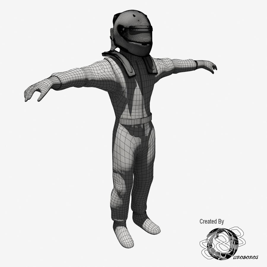Yarış sürücüsü royalty-free 3d model - Preview no. 12