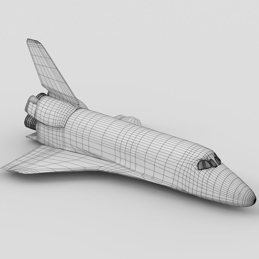 Nave espacial royalty-free 3d model - Preview no. 3