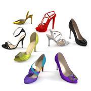 레이디 신발 세트 3d model