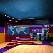 Tv News Studio 3d model