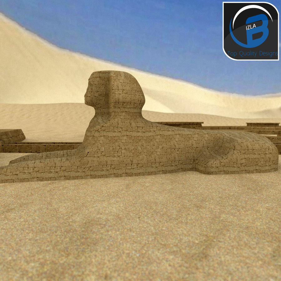 egyptian pyramids giza plateau royalty-free 3d model - Preview no. 11