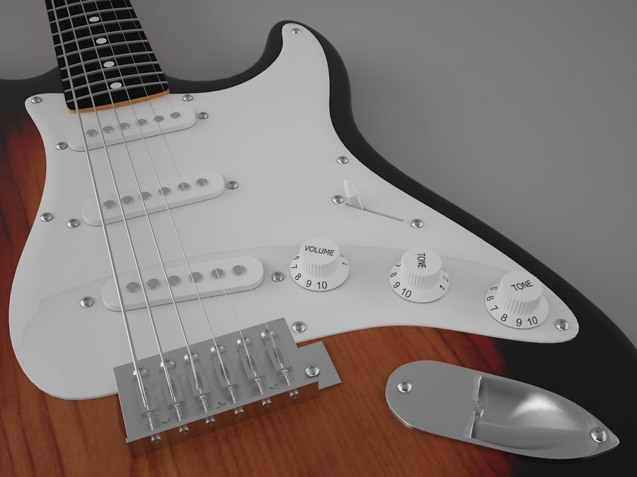 Fender royalty-free 3d model - Preview no. 6