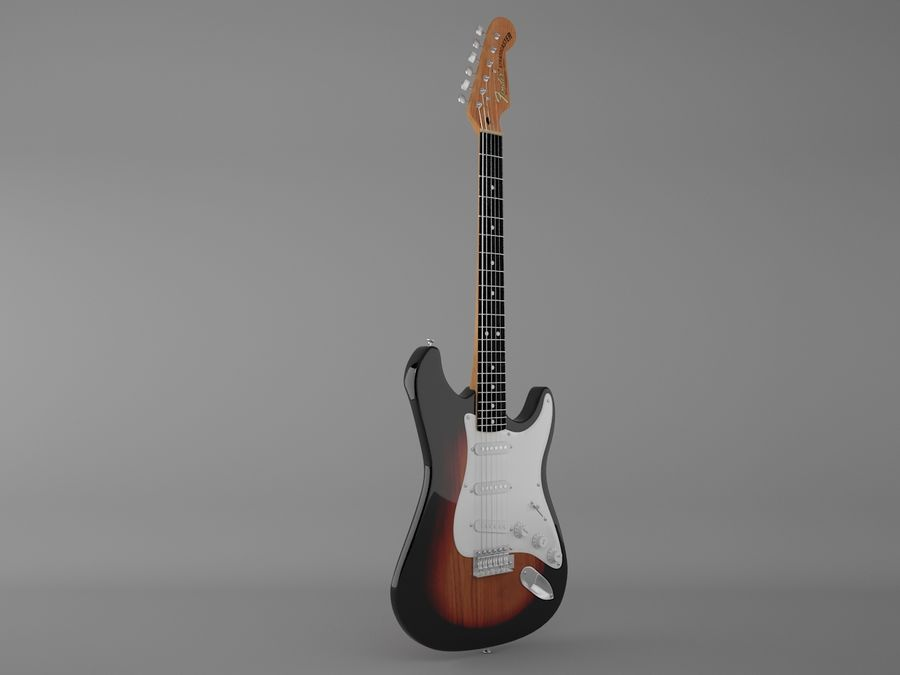 Fender royalty-free 3d model - Preview no. 2