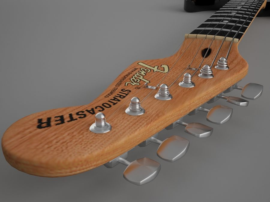 Fender royalty-free 3d model - Preview no. 8
