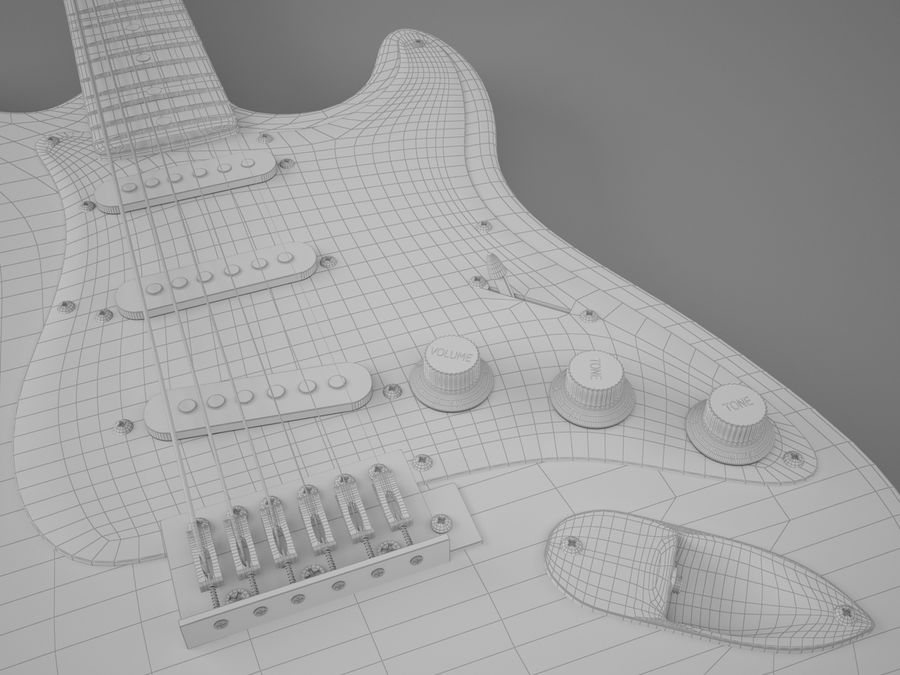 Fender royalty-free 3d model - Preview no. 7
