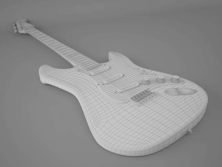 Fender royalty-free 3d model - Preview no. 5