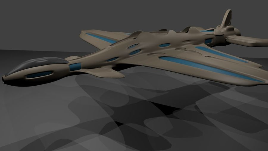 Scifi-Flugzeuge royalty-free 3d model - Preview no. 4