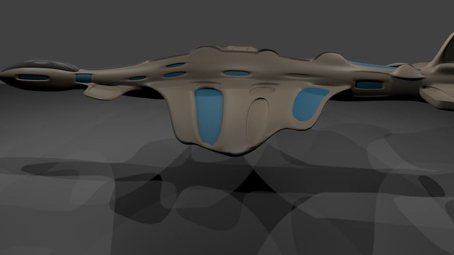 Scifi-Flugzeuge royalty-free 3d model - Preview no. 3