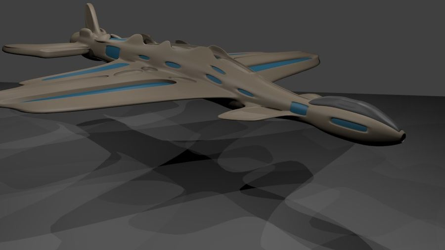 Scifi-Flugzeuge royalty-free 3d model - Preview no. 5