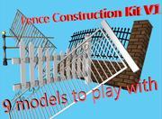 Комплект для строительства 3D-забора 3d model