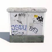 Korsningsbox 3d model
