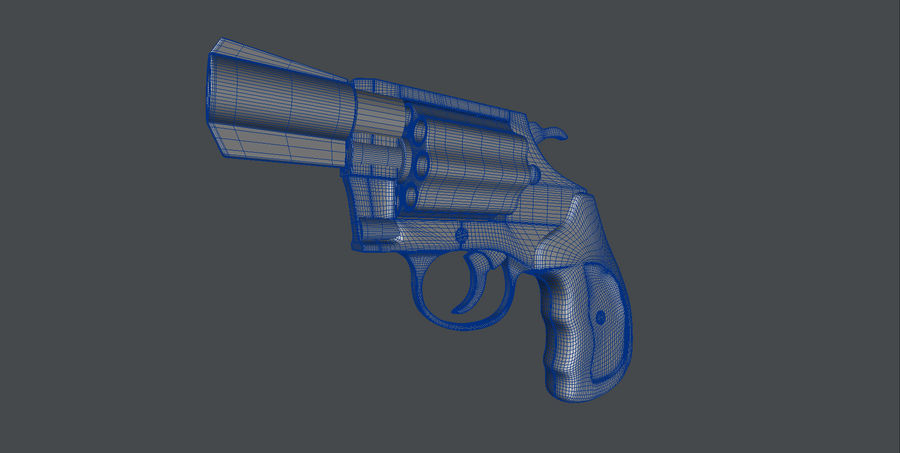 colt Gun royalty-free 3d model - Preview no. 5