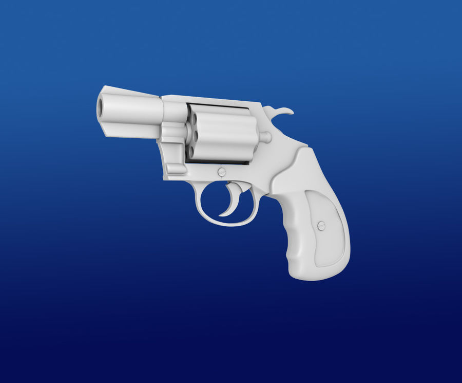 colt Gun royalty-free 3d model - Preview no. 3