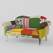 диван лоскутное шитье 3d model