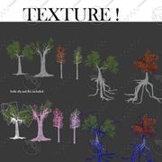 conjunto de árvores 3d model